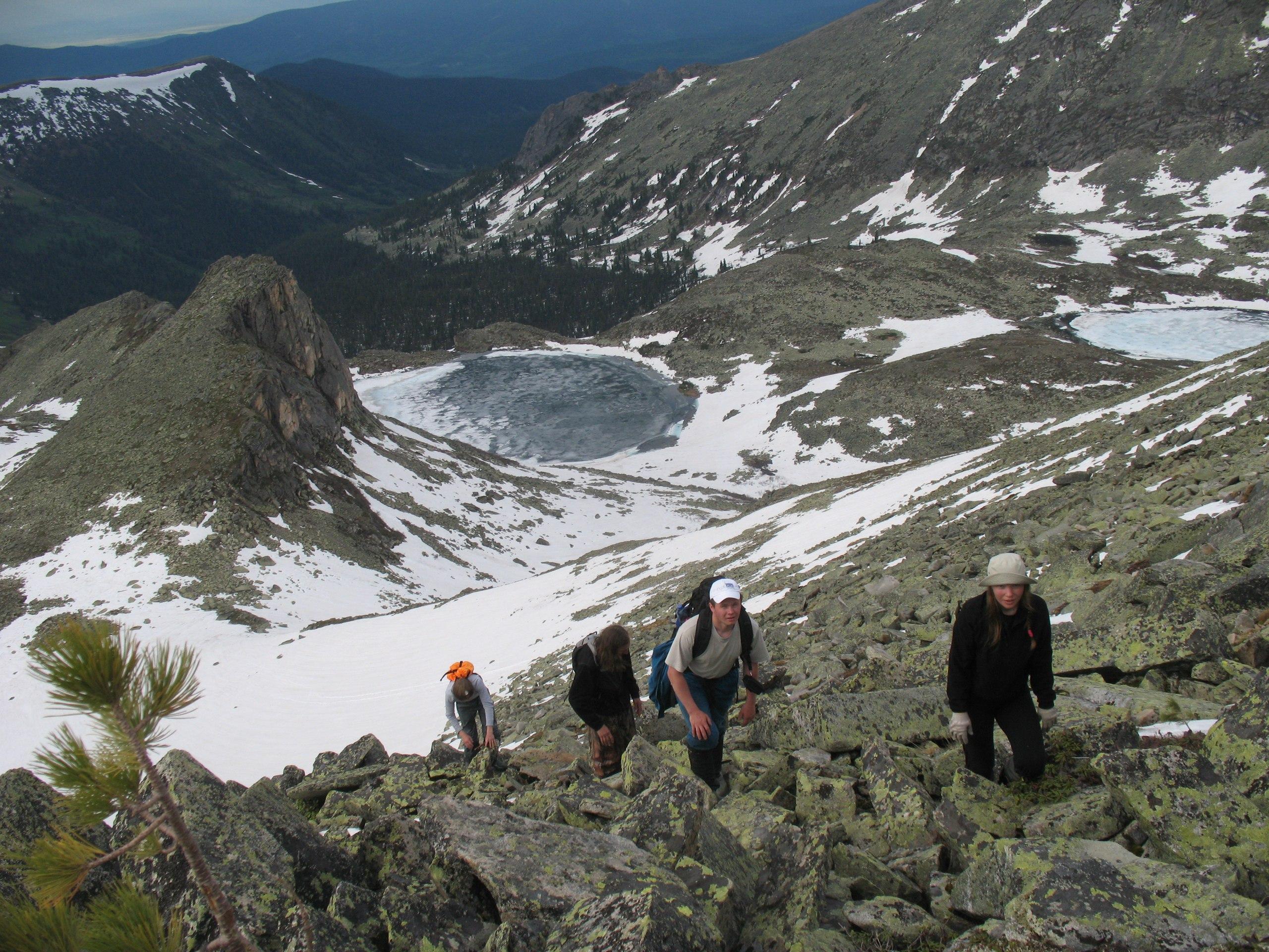 Подъем на гору Перевальную