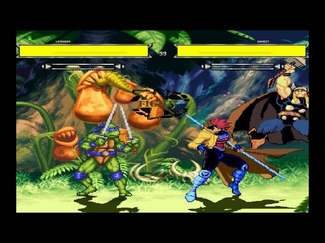 Teenage Mutant Ninja Turtles vs. X-Men - Mugen Fighting Game!