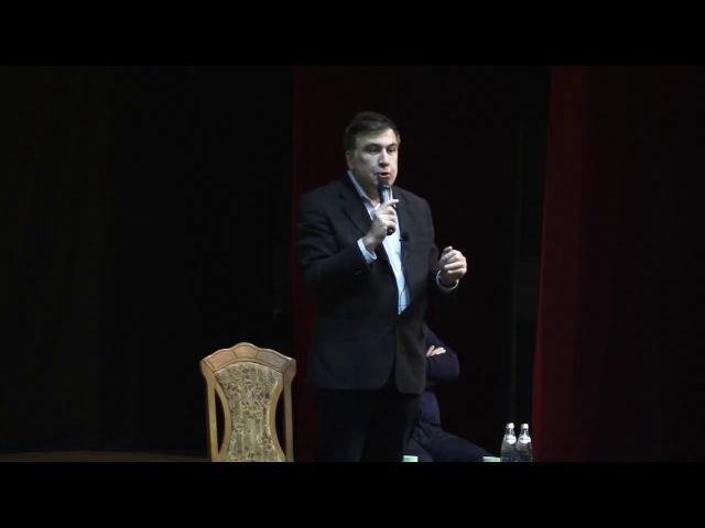Саакашвили произвел фурор в Днепре