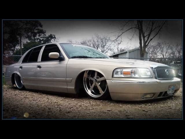 Bagged Mercury Grand Marquis on 22s 24x12s by Slaughter House