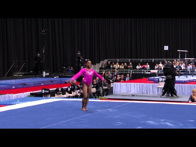 Simone Biles - Floor Exercise - 2015 ATT American Cup - NBC