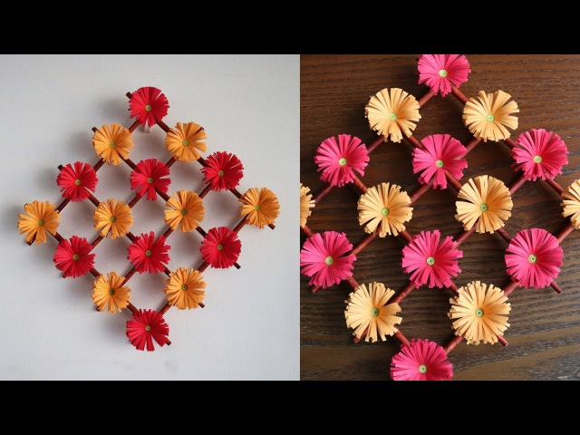 Paper Flower Wall Hanging DIY Hanging Flower Wall Decoration ideas