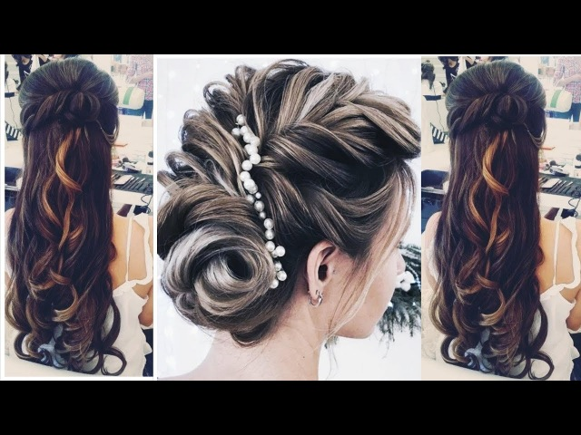 2 EASIEST PARTY UPDO AND HALF UP HALF DOWN HAIRSTYLE |BUN PROM FOR MEDIUM LONG HAIR TUTORIAL