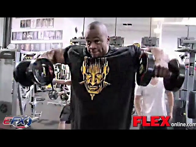 Essa Obaid's Shoulders Workout One Week from Olympia 2012