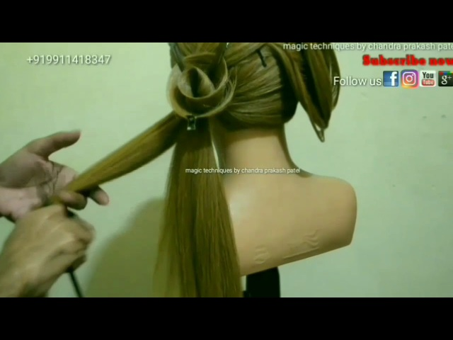 How to make rose hairstyle (magic techniques by chandra prakash patel)