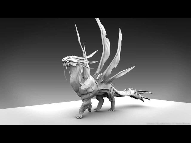 Project Quadruped - Dragon walk cycle