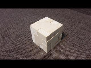 Японская головоломка из дерева своими руками. Кубик.
