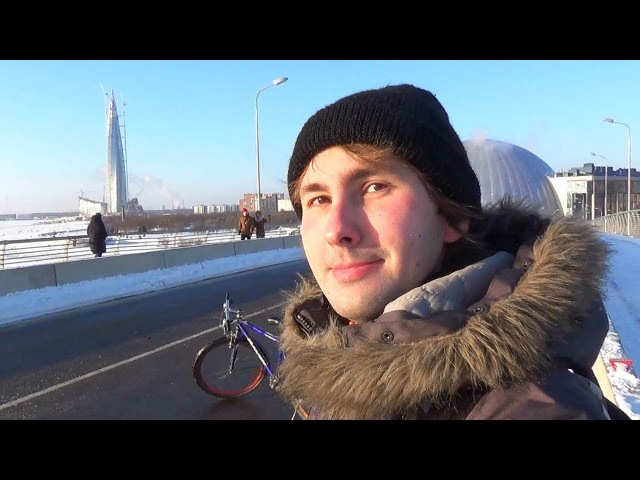 2018, January 31. The Sunny Journey. Day on the seashore. The Winter in Saint-Petersburg, Russia.