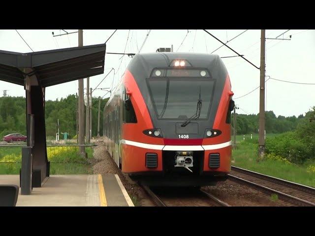 Штадлерский электропоезд 1408 в о.п. Кулли / Stadler EMU 1408 passing Kulli stop