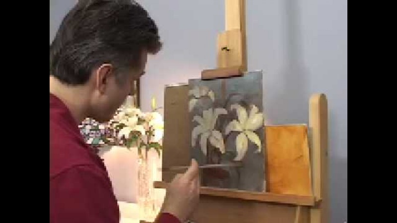 OIL PAINTING DEMONSTRATIONS --HOW TO PAINT FLOWERS--LILIES BY HALL GROAT II