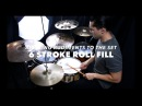 6 Stroke Roll Fill- Applying Rudiments 3- Drum Lesson With Eric Fisher