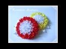 МК Необычные хризантемы из атласной ленты🏵️ Unusual chrysanthemums Crisântemos incomuns