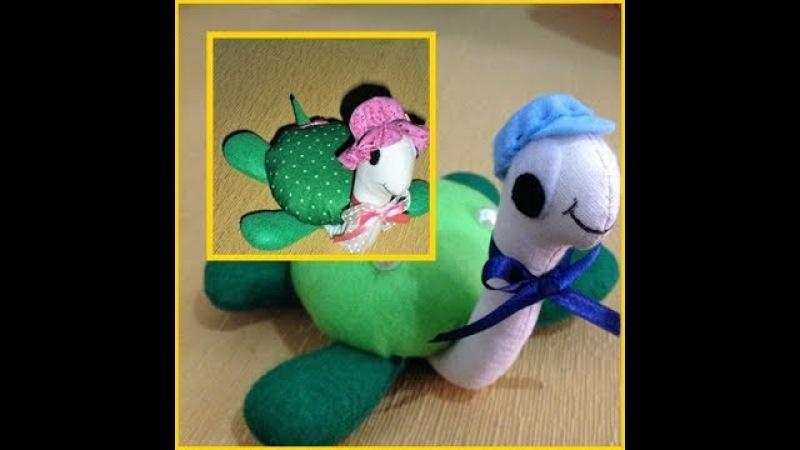 Diy: Tartaruga de tecido para peso de porta ou enfeite, muito fofa e fácil de fazer