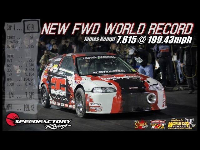 World Record 1850HP 2.0L Honda Civic 7.6@201MPH