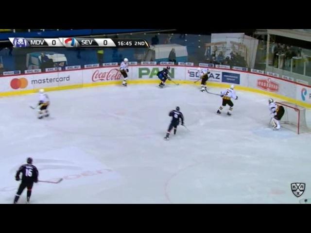 Моменты из матчей КХЛ сезона 16/17 • Гол. 1:0. Безина Горан (Медвешчак) открывает счет матча 09.01