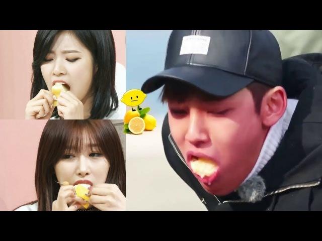 When Kpop Idols Eating Lemon