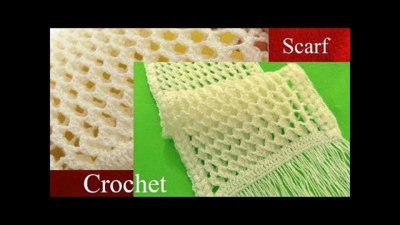 Bufanda a Crochet en punto 3D panal o nido de abeja tejido tallermanualperu