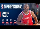 Chris Paul Scores 22 pts 11 asts 8 rebs vs The Cavs