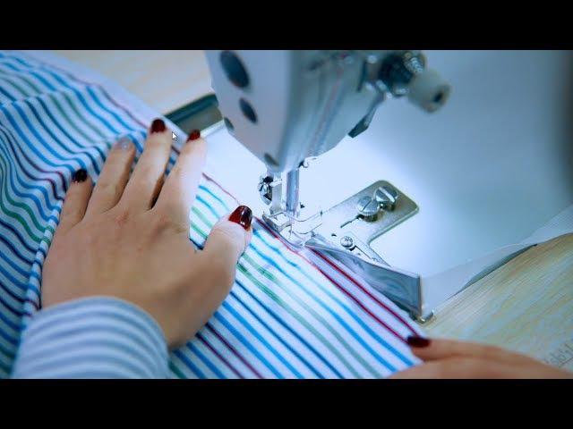 Приспособления для подгибки и окантовки ткани на промышленных швейных машинах