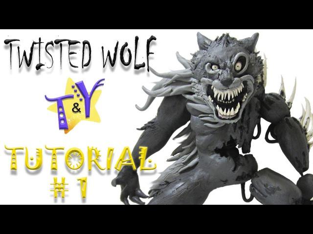 Как слепить Твистед Волка ФНАФ из пластилина Туториал 1 Twisted Wolf from clay Tutorial 1