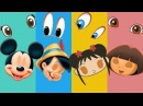 Wrong Heads Doraemon Princess Anna Elsa Finger Family Learn Colors Nursery Rhyme For Kids