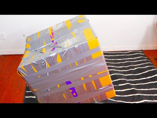 Trapped inside a Tapped box with duct tape. Try to get out Challenge