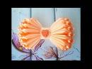 Бантик из ленты своими руками МК Канзаши DIY Bow of ribbon Kanzashi