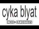 Cyka Blyat Pronounced in 30 Languages (Google Translate)