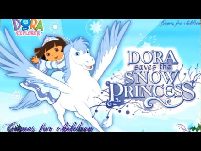 Games for kids Dora the Explorer Dora save the Snow Princess Games for children
