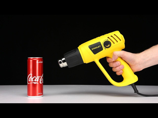 SCIENCE EXPERIMENTS - 600 degree HEAT GUN vs COCA COLA by Mr. Hacker