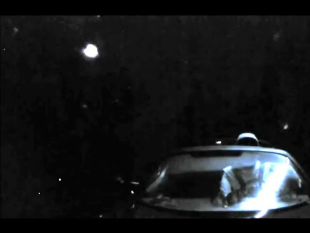 A Bright UFO Made Itself Known to The World on Tesla's Starman Live feed