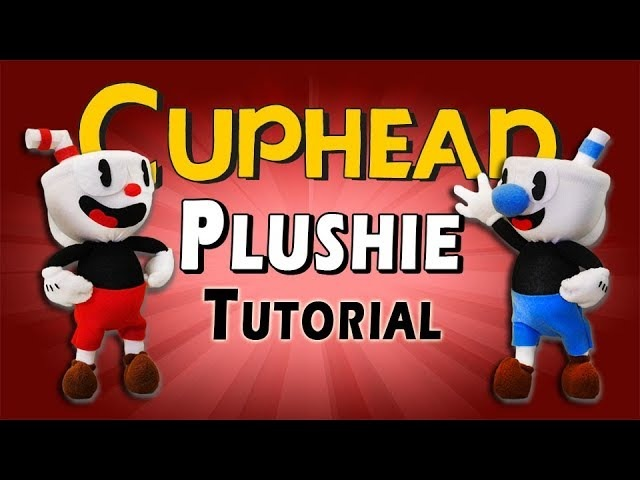 DIY Cuphead Mugman Plushies - FREE PATTERN! Sock Plush Tutorial