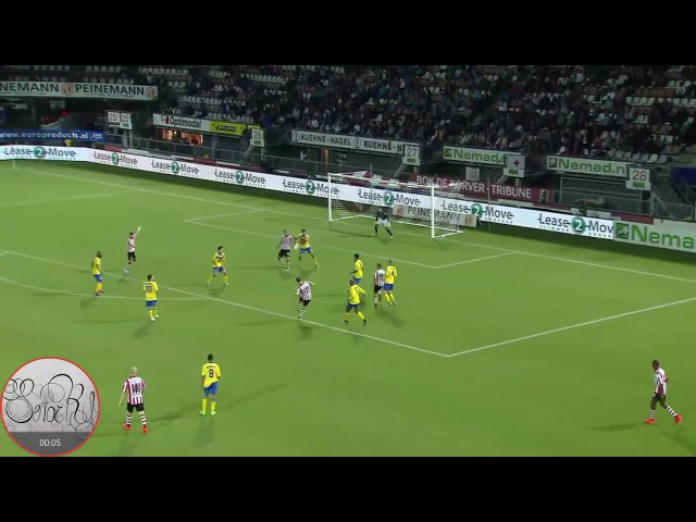 Sparta vs Dordrecht KNVB Beker 21 09 2016 gol Thomas Verhaar Doelpunt 1080p