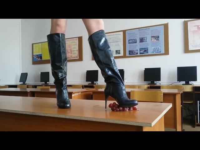 GIANMARCO LORENZI high heels fetish boots 37 size Dark aquamarine Trampling