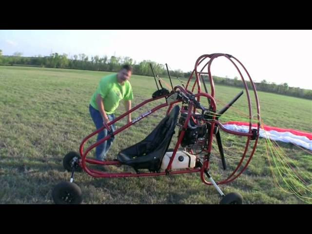 Flying a Powered Paraglider Trike or Quad part 2 of 3.wmv