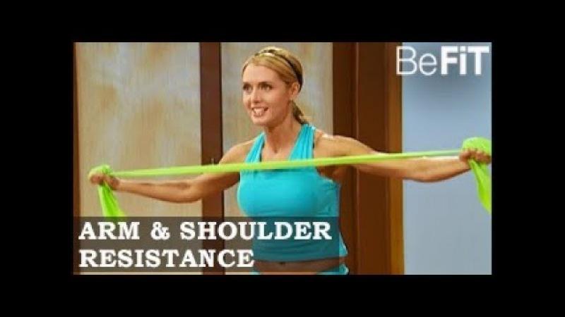 Тренировка рук и плеч с эспандером: 10-минутное решение. Arm Shoulder Resistance Workout: 10 Min Solution- Amy Bento