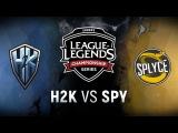H2K vs. SPY - Week 4 Day 1 EU LCS Spring Split H2k-Gaming vs. Splyce (2018)