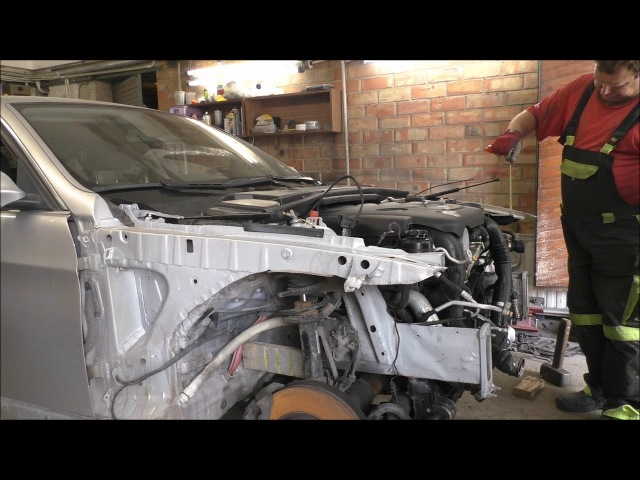 BMW E92. The minor repair front end. Небольшой ремонт переда.