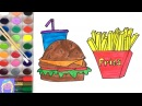 Learn How To Draw And Paint A Burger And Fries With This Fun Painting Video For Kids
