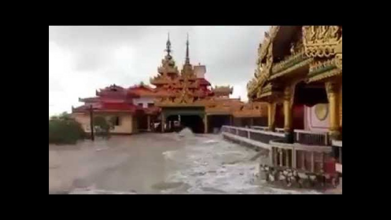 Floods in Burma Myanmar 2017 - video 1