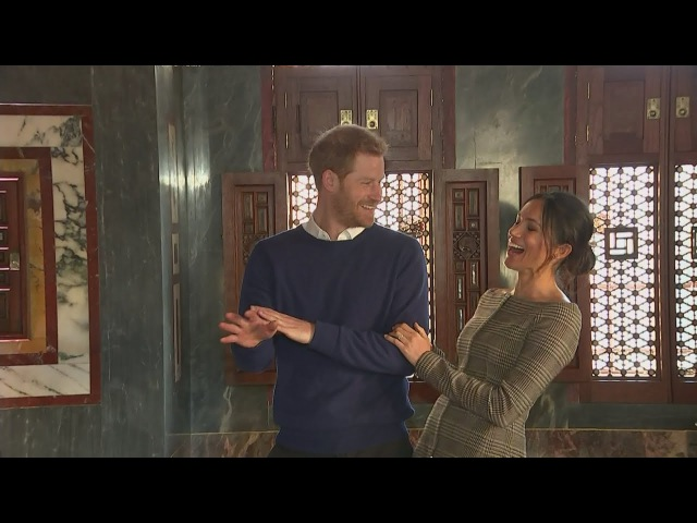 Harry and Meghan serenaded in Cardiff Castle