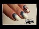 ❤ ГРАДИЕНТ блестками ❤ моя КОШЕЧКА в дизайне ❤ ЗИМНИЙ дизайн ногтей гель лаком ❤