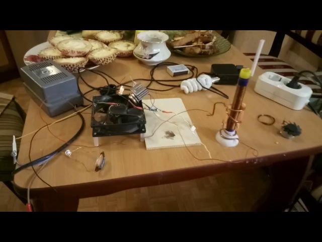 Как работает Александровская колонна. Tesla . Свет, тепло и электромоторы без прово...