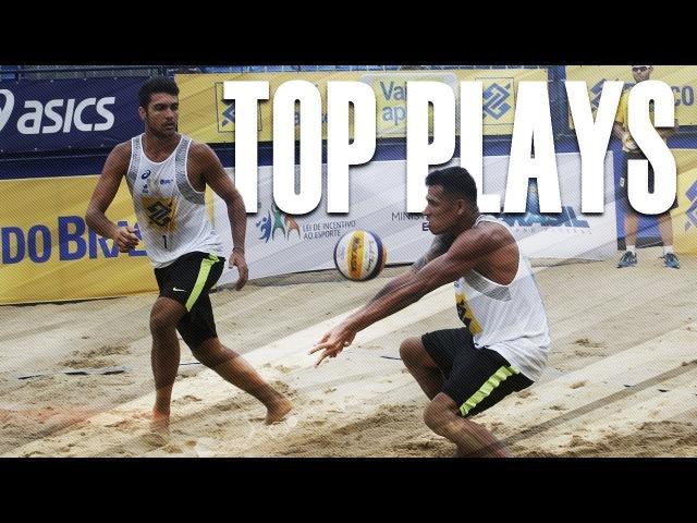 CBV Fortaleza 2018 • TOP MENS PLAYS 1 • Beach Volleyball World