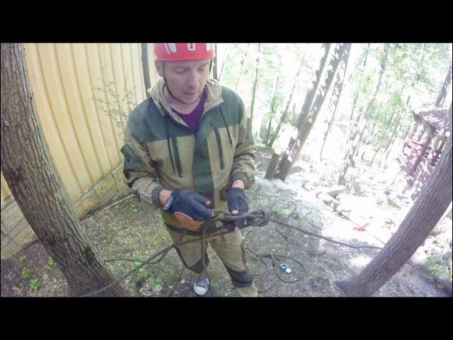 Как сделать полиспаст Удаляем аварийные деревья
