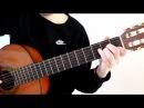Разбор красивой мелодии на гитаре из кинофильма Шербургские зонтики