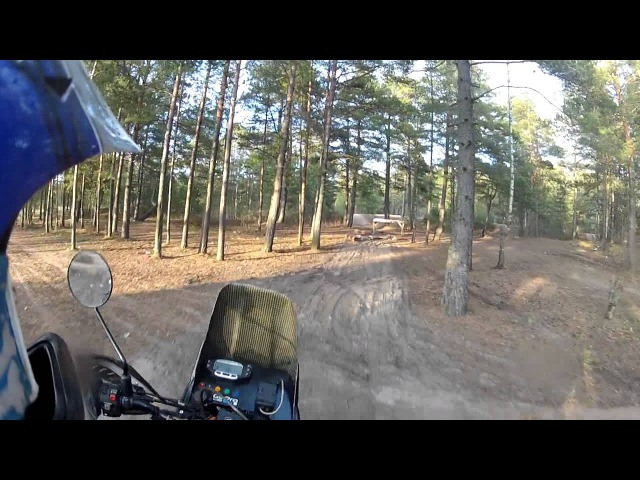 Honda Transalp 600 enduro moto riding Part 1 RUS SBor47