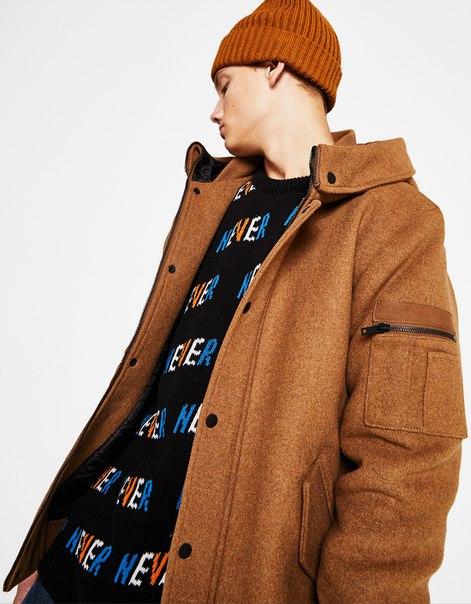 Куртка-бомбер из смесовой ткани