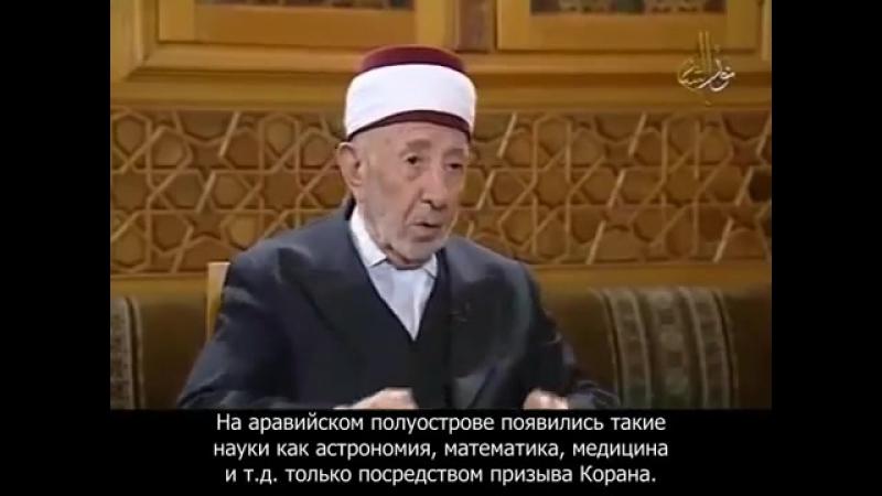 Беседа с Рамаданом аль-Бути. Выпуск 1.