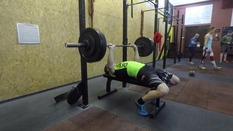 2017/12/13 bench press 67.5kg х8